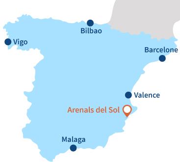 Où se trouve Arenals del Sol en Espagne - Alicante