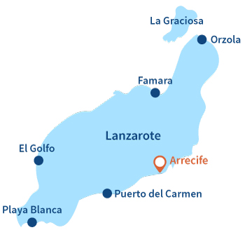 Where is Arrecife in Lanzarote in the Canary Islands