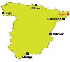 Carte de Begur en Espagne sur la Costa Brava