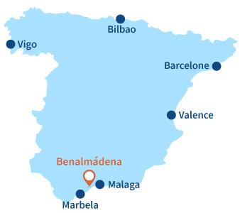 Ou se trouve Benalmádena en Andalousie - Espagne