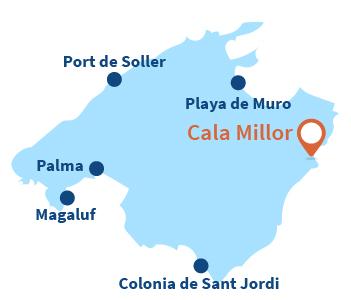 Localisation de Cala Millor à Majorque