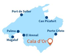 Localisation de Cala d'Or à Majorque - Baléares