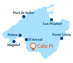 Localisation de Cala Pi à Majorque - Baléares