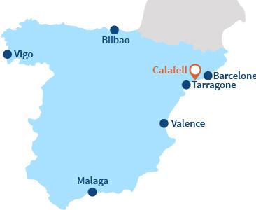 Localisation de Calafell en Espagne