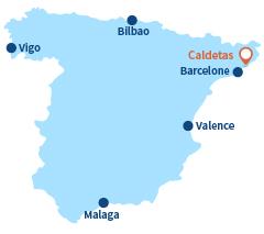 Localisation de Caldetas en Espagne - Caldes d'Estrac