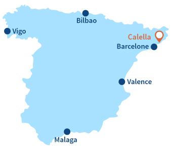 Ou se trouve Calella en Espagne