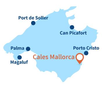 Localisation de Cales Mallorca à Majorque