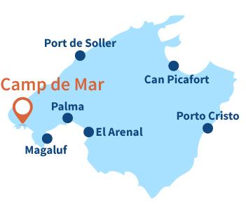 Ou se trouve Camp de Mar à Majorque aux Baléares