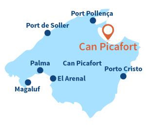 Ou se trouve Can Picafort dans les Baléares - Majorque