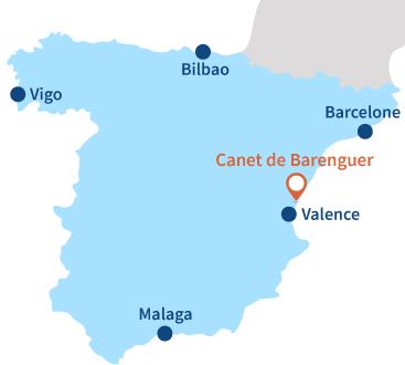 Carte de Canet de Barenguer en Espagne