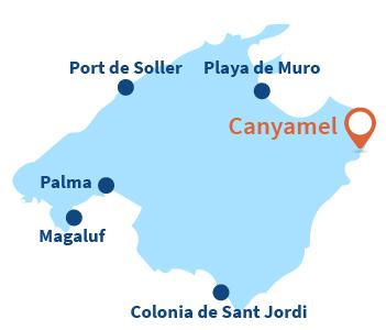 Localisation de Canyamel à Majorque