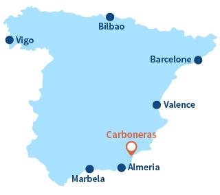 Ou se trouve Carboneras en Andalousie