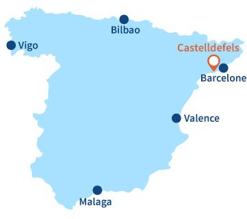 Localisation de Castelldefels en Espagne - Barcelone