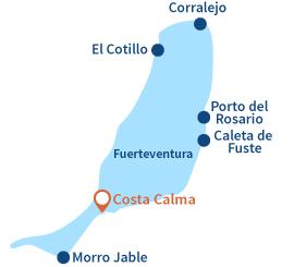 Localisation de Costa Calma à Fuerteventura - Canaries