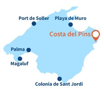 Localisation de Costa del Pins à Majorque
