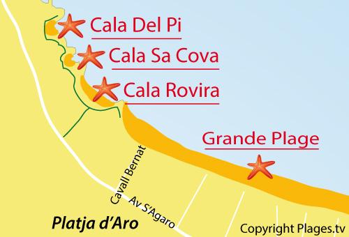 Cala Del Pi à Platja D Aro Catalogne Espagne Avis Et Photos Plages Tv