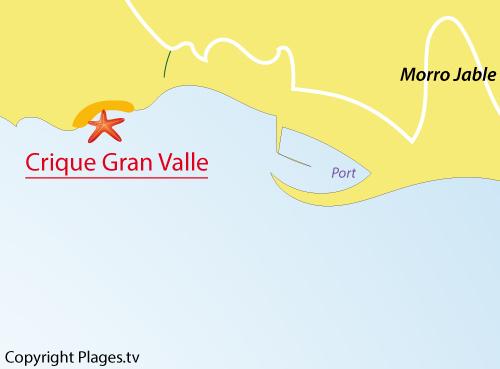 Carte de la crique de Morro Jable - Fuerteventura