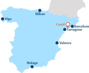 Localisation de Cunit en Espagne