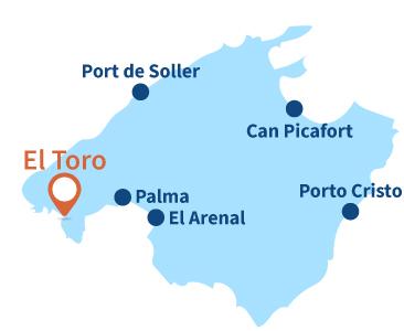 Localisation d'El Toro à Majorque - Baléares