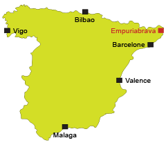 Localisation d'Empuriabrava en Espagne