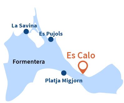 Localisation d'Es Calo à Formentera