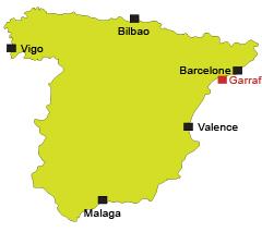 Localisation de Garraf en Espagne