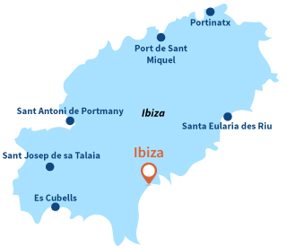 Localisation d'Ibiza en Espagne