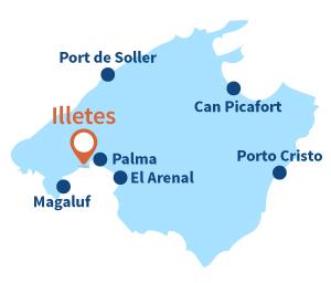 Ou se trouve Illetes à Majorque aux Baléares