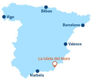 Localisation de La Isleta del Moro en Espagne - Andalousie