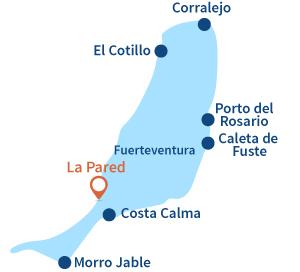 Ou se trouve La Pared à Fuerteventura sur les iles Canaries