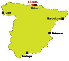 Localisation de Larado en Espagne