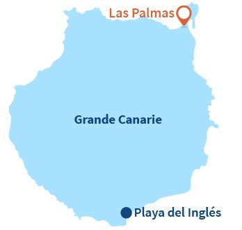 Où se trouve Las Palmas à Gran Canaria - Espagne