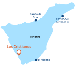 Map of Los Cristianos in Tenerife - Canary island