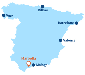 Location of Marbella in Spain - Andalousia