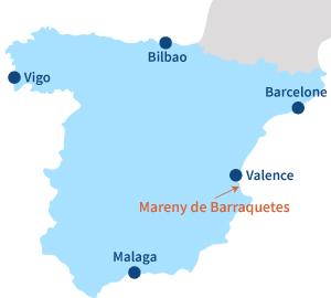 Localisation de Mareny de Barraquetes en Espagne