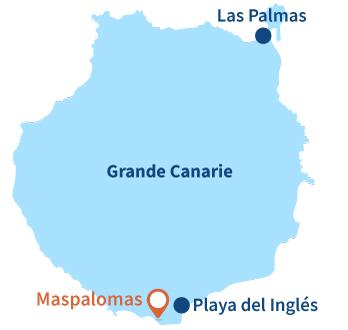 Localisation de Maspalomas à Grande Canarie