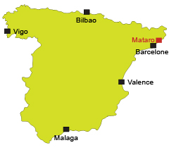 Map of Mataro in Spain