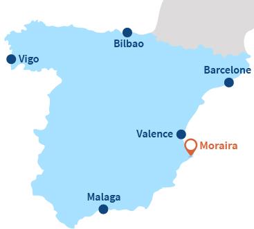 Où se trouve Moraira en Espagne - Alicante
