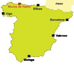 Localisation de Muros de Nalón en Espagne