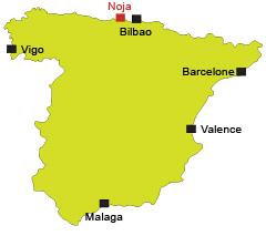 Localisation de Noja en Espagne
