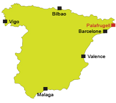 Map of Palafrugell in Spain