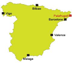Carte de la plage de Palafrugell en Espagne
