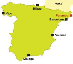 Localisation de Palamos en Espagne