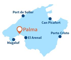 Map of Palma de Mallorca - Spain