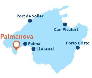 Localisation de Palmanova à Majorque