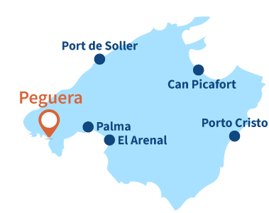 Localisation de Peguera à Majorque
