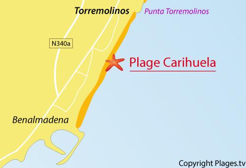 Carte Plage Naturiste Andalousie.Plage De Carihuela A Torremolinos Andalousie Espagne Avis Et