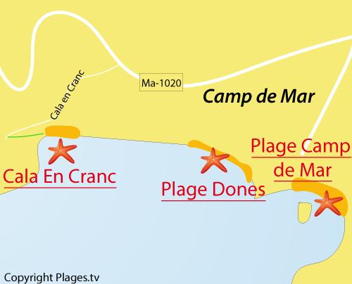 Carte de la Cala en Cranc - Majorque