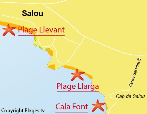Carte de Cala Font à Salou