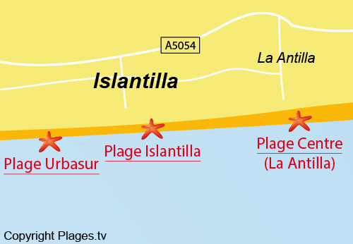 Carte Andalousie Islantilla.Plage D Islantilla A Islantilla Andalousie Espagne